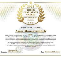 AMIR MOUSAVIZADEH - 2020 Winner