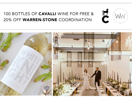 WARREN-STONE WEDDINGS AND CAVALLI WINE PROMOTION 2021