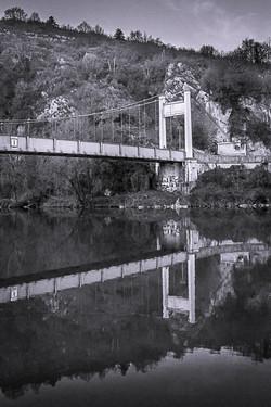 Pont suspendu de Yenne