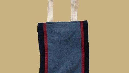 Multi colored stripe bag