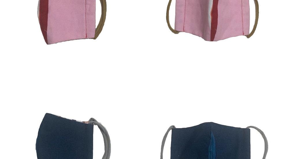 popmask small pink&navy