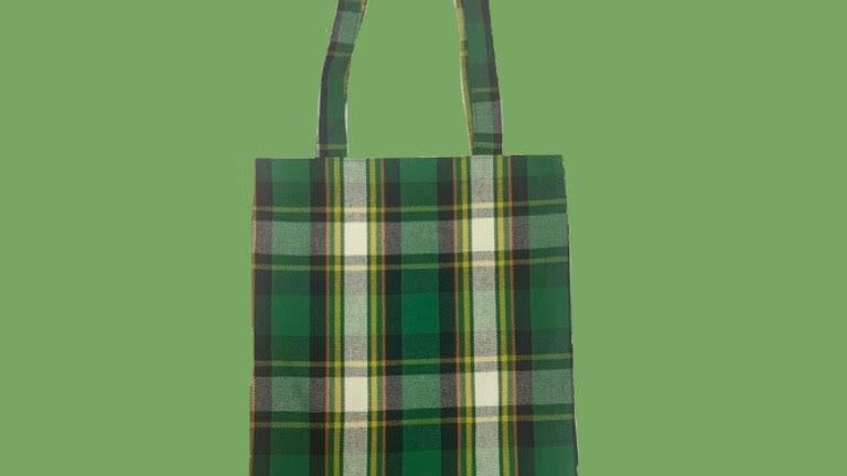 Green Plaid bag
