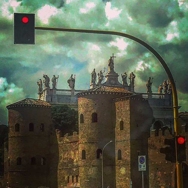 of saints, fortresses and red lights (a cloudy day)