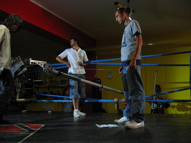 """""""Pugni in faccia"""" Music Video: with Luca Murri shooting Inoki on the ring"""