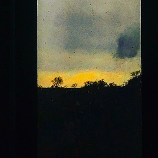 end of sunset for a fully clouded sky (a visual idyll)