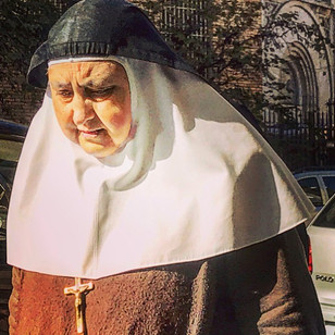 the old masculine nun (portraying the past)