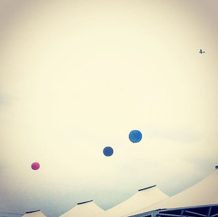 sugar mountain's colored balloons and the Little Prince's plane (streetvision)