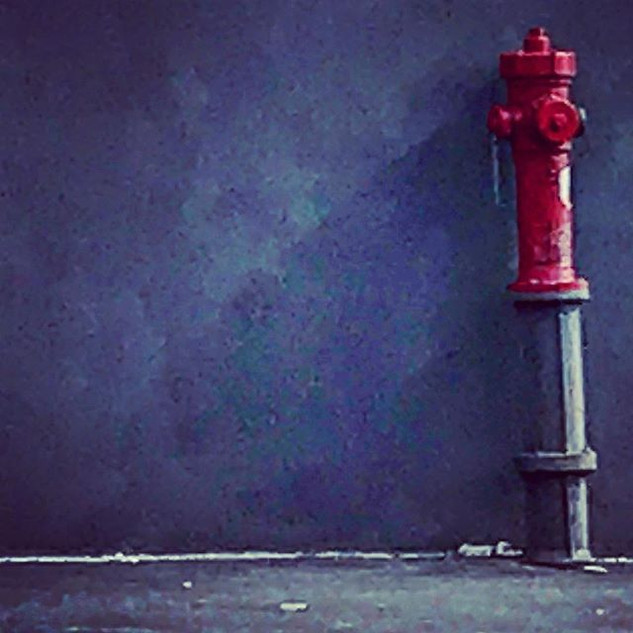 hydrant (sometimes reality hits you without any apparent reason) - a street detail in hopper sauce