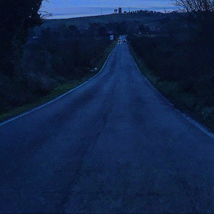 blue (as a lonely road heading to the night)
