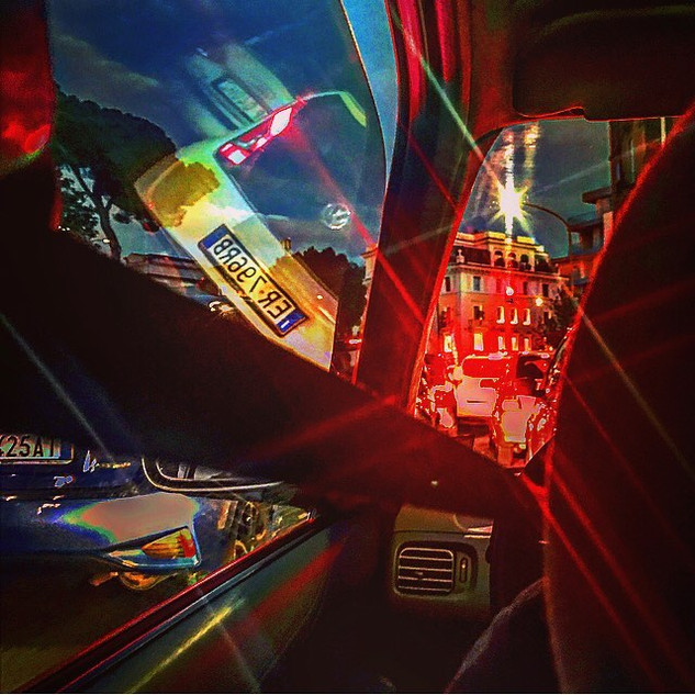 in the red flashing light (from a security belt point of view)