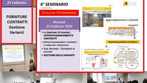 25Feb 2020 - Approvvigionamenti & VARIANTI