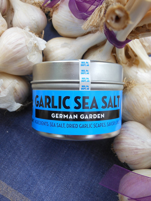 German Garden Garlic Sea Salt - 4oz Tin