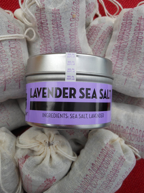 Lavender Sea Salt - 4oz Tin