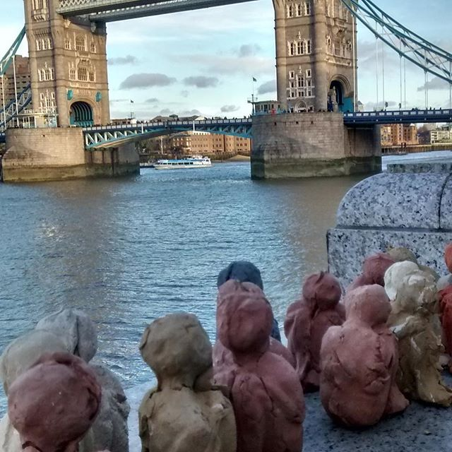 Clay figures at various locations around London, see if you can spot them