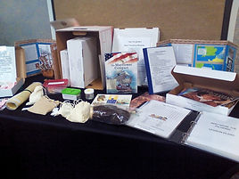 photo of inside contents of mini museum