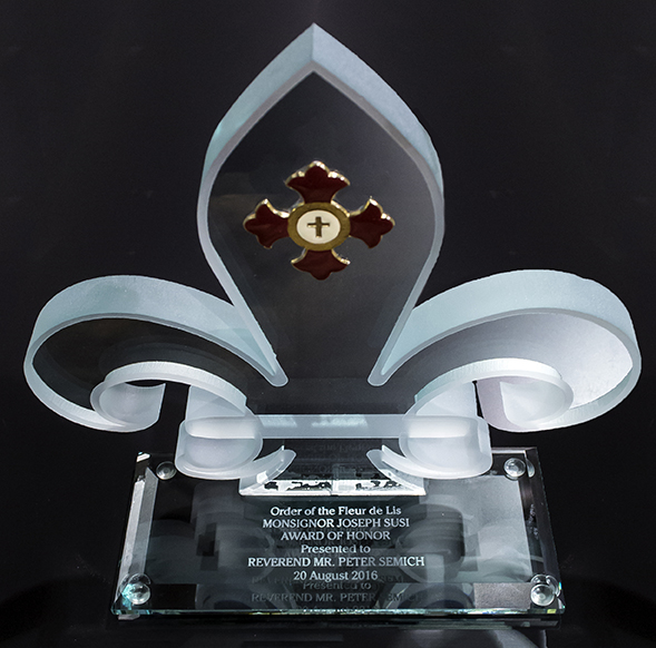 Fleur-de-Lis Glass Award