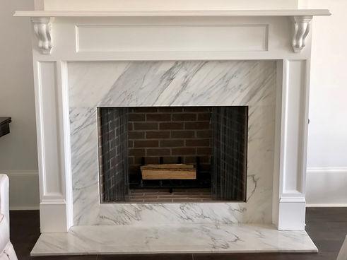 Calacatta Retro Marble Fireplace