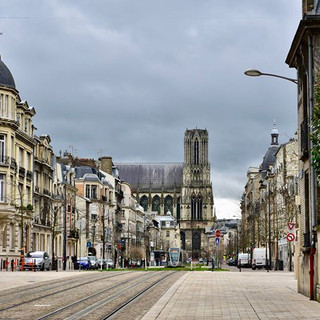 The streets of Reims