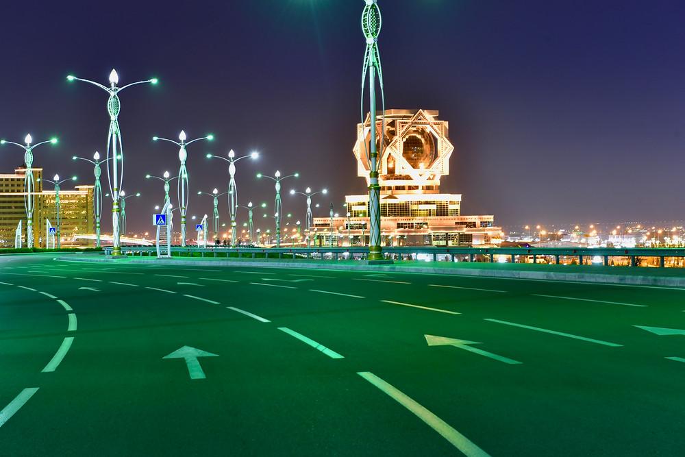 Ashgabat night wedding palace