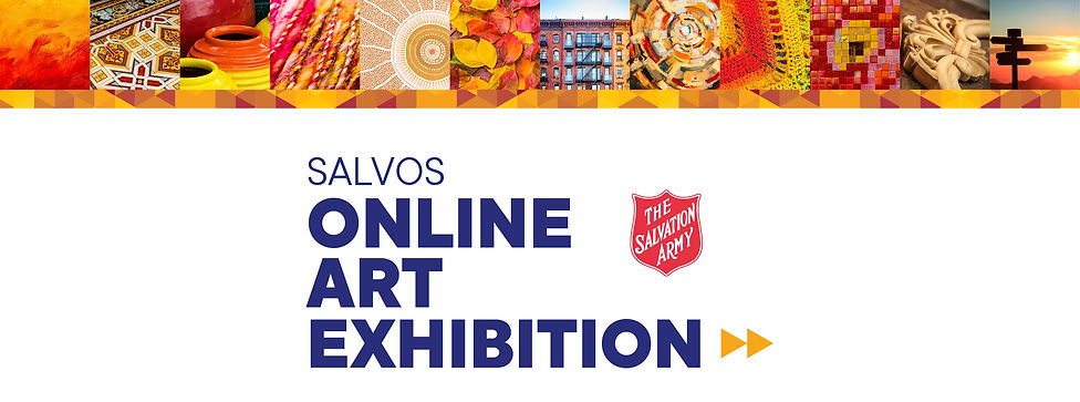Salvos Art Exhibition - Wix page banner