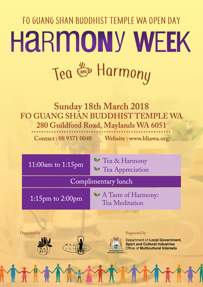 Harmony Week - Tea & Harmony