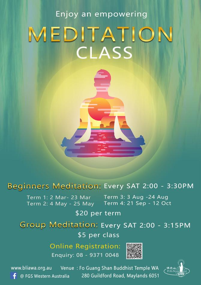 2019 Meditation Class