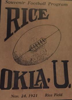 Oklahoma v. Rice Vintage Poster