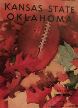 Oklahoma v. Kansas State Vintage Poster