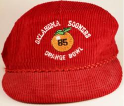Vintage 1985 Orange Bowl Corduroy Cap