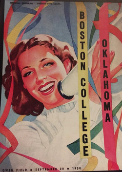 Oklahoma v. Boston College Vintage Poster