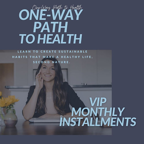 VIP Private Clients - Monthly Coaching Plan   Monthly Installments