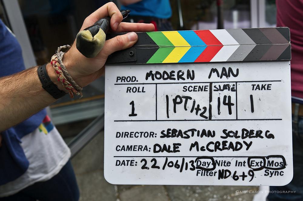 Modern Man clapper board