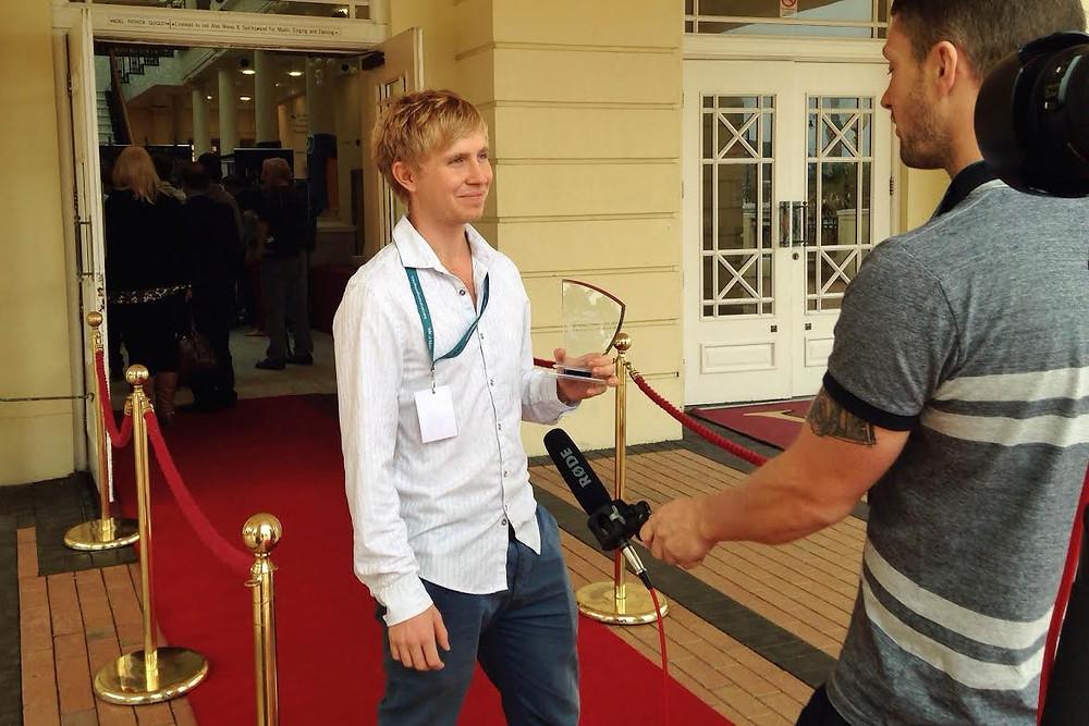 Sebastian Solberg at the Isle of Man Film Festival