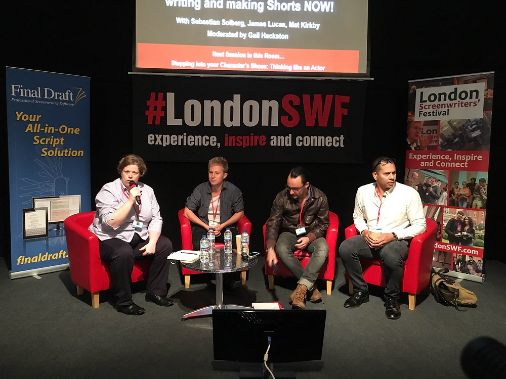 Sebastian Solberg at the London Screenwriters Festival
