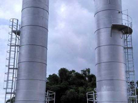 Enclosed Gas Flare installation for Oil India Limited, Assam