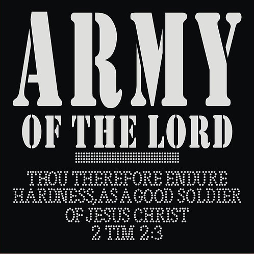 Army Of The Lord Vinyl and Rhinestone Tee - © 2016. All Rights Reserved.
