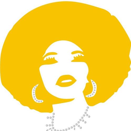 Gold Glitter Vinyl Afro