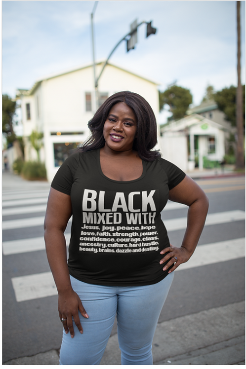 Black Mixed With . . . Tee