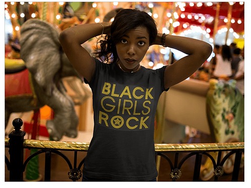 Black Girls Rock Gold Tee