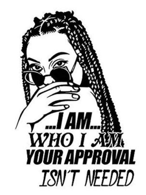 I AM WHO I AM BLACK Glitter Vinyl Tee