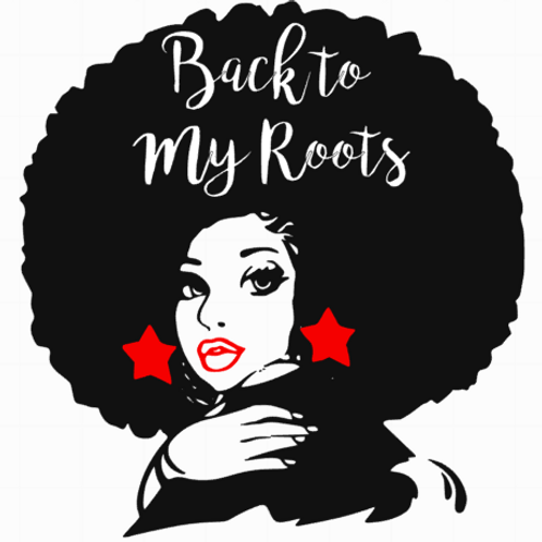 Back To My Roots Glitter Vinyl Tee