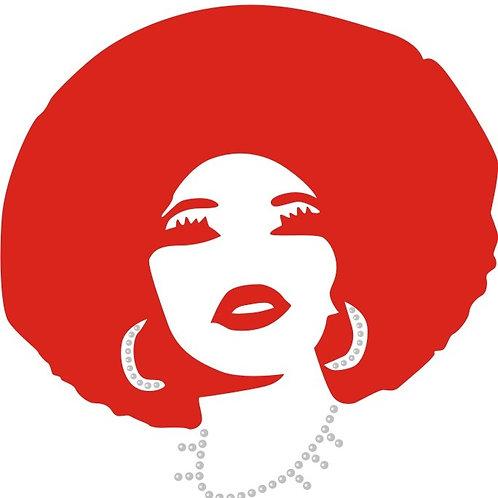 Red Glitter Vinyl Afro