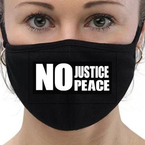 No Justice No Peace Mask