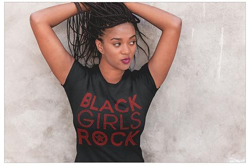 Black Girls Rock Red Tee