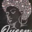 Vinyl/Buttons Queen Afro Tee