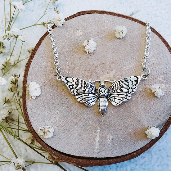 Clarice - Death's Head Skull Moth Necklace