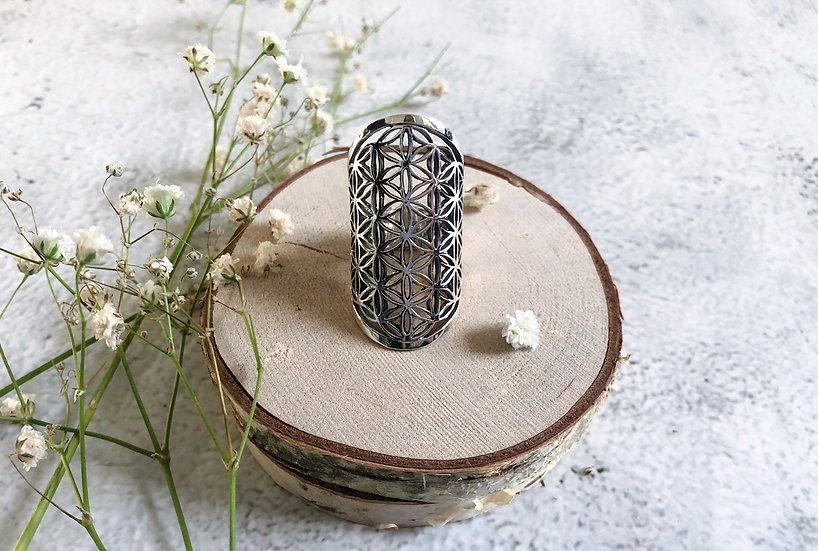Flower of Life Tunnel Ring