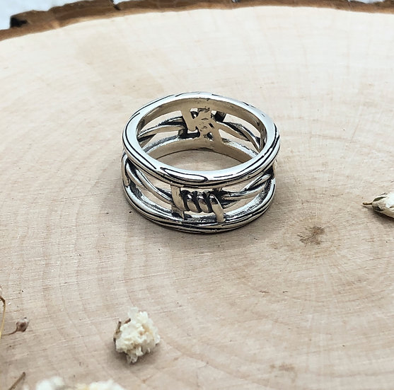 Eternal Barbed Wire Ring