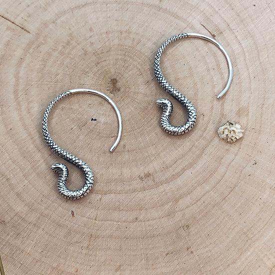 Snake Charmer Hoops