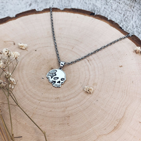 2D Skull Necklace